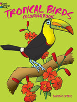 Tropical Birds Coloring Book