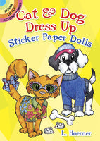 Cat & Dog Dress Up Sticker Paper Dolls (Mini Dover)