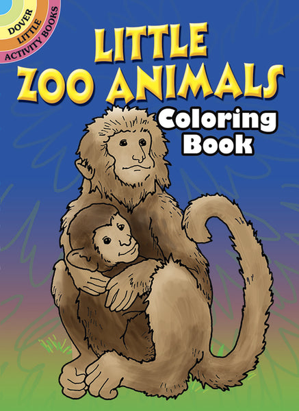 Little Zoo Animals Mini Dover Coloring Book