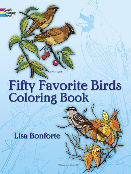 Favorite Fifty Birds Coloring Book