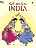 Fashions From India Coloring Book