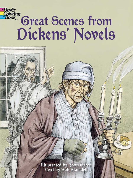 Great Scenes from Dickens Novel Coloring Book