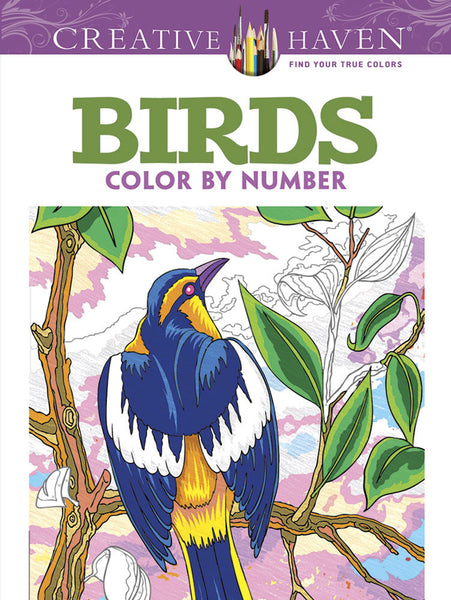 Birds Color By Number Coloring Book (Creative Haven)