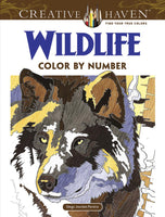 Wild Life Color By Number Coloring Book (Creative Haven)
