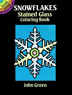 Snowflakes Stained Glass Coloring Book (Mini Dover)