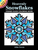 Heavenly Snowflakes Stained Glass Coloring Book (Mini Dover)