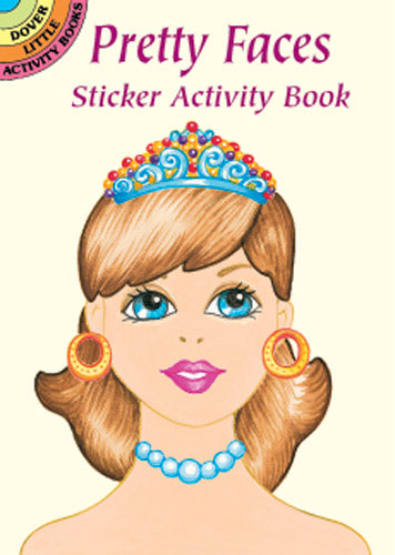 Pretty Faces Sticker Activity Book (Mini Dover)