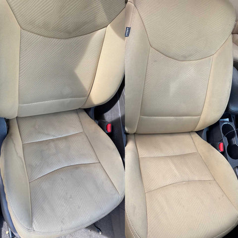clean car seat upholstery
