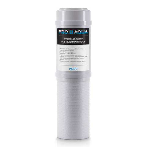 Pro+Aqua - Premium Dual RV/Marine Water Filter Replacement, Taste, Odor, Sediment, Chlorine