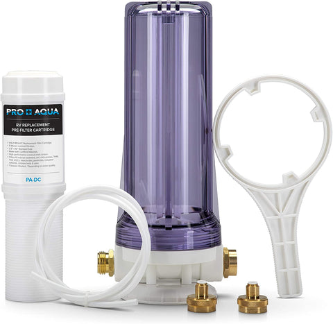 Pro+Aqua - Premium Dual RV/Marine Water Softener Regeneration Kit and Water Filter