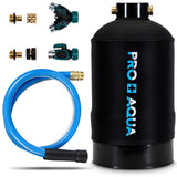 "Pro+Aqua - Portable Water Softener Pro 16,000 Grain Premium Grade RV, Trailers, Boats, Mobile Car Washing, High Flow 3/4"" GH Ports"