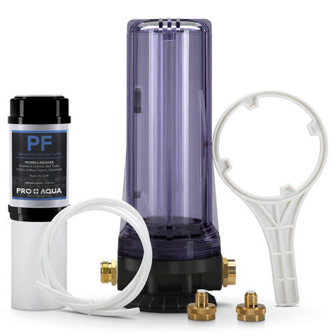 New Premium Dual RV/Marine Water Softener Regeneration Kit and Water Filter, Reduces Bad Taste, Odor, Sediment, Chlorine