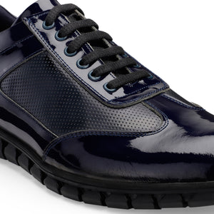 Men's Casual Handcrafted Leather Lace-up Sneaker with Rubber sole