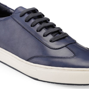 Men's Blue Leather Sneaker