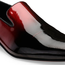 Load image into Gallery viewer, Men's Dual Tone Slip-on Patent Leather Shoes