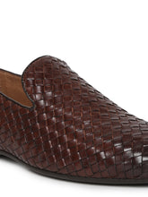 Load image into Gallery viewer, Men's Semi-Formal Slip-on Shoes with embossed mock alligator print