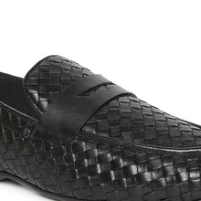 Load image into Gallery viewer, Men's Casual Moccasin Loafers with a Rubber sole in weave finish