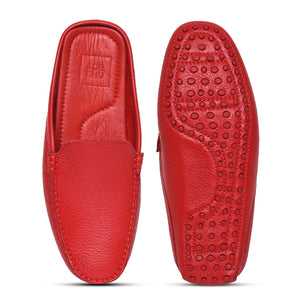 Men's Leather Mule slipper with pebble sole