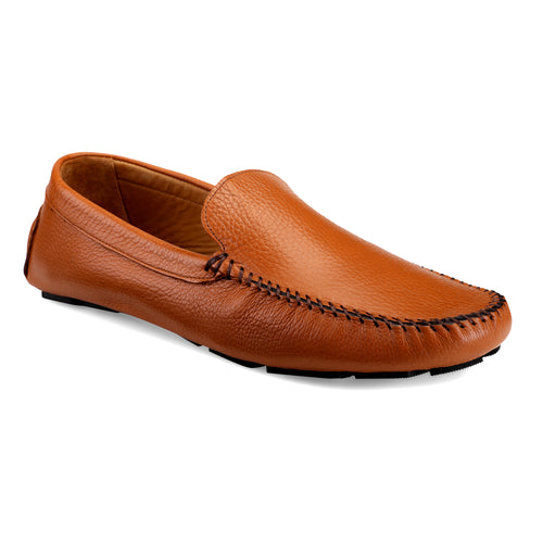 Men's Tan Casual Leather Loafers