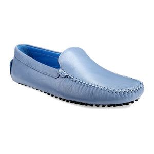 Men's Denim Blue Casual Leather Loafers