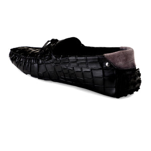 Men's Black Casual Leather Loafers
