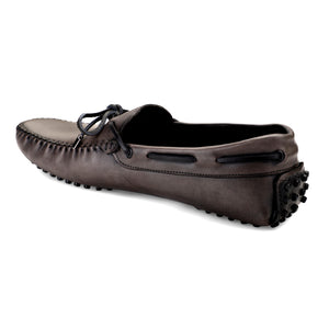 Men's Grey Casual Leather Loafers