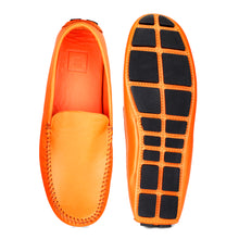 Load image into Gallery viewer, Men's Orange Casual Leather Loafers