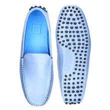 Load image into Gallery viewer, Men's Denim Blue Casual Leather Loafers