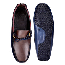 Load image into Gallery viewer, Men's Casual Triple Tone Leather Loafers