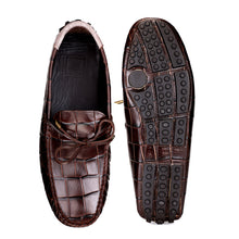 Load image into Gallery viewer, Men's Brown Casual Leather Loafers