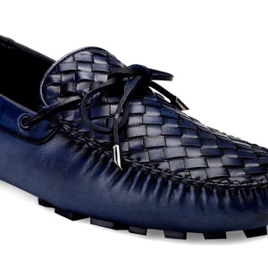 Men's Casual Blue Genuine Leather Loafer