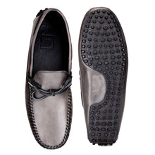 Load image into Gallery viewer, Men's Grey Casual Leather Loafers