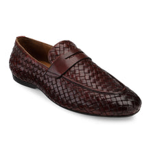 Load image into Gallery viewer, Men's Casual Moccasin Loafer in Weave with Chord Stitch