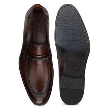 Load image into Gallery viewer, Men's Leather Slip-on Shoes with Chord stitch and Buckle