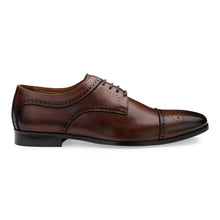Load image into Gallery viewer, Men's Derby Cap-toe Leather Lace-up Shoes with Brogue