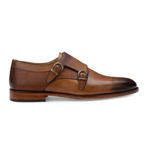 Men's Formal Leather Double Monk Brogues
