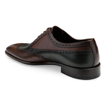 Load image into Gallery viewer, Men's Genuine Leather Lace-up Shoes in Dual tone with classic brogues