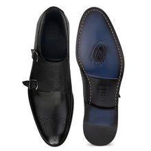 Load image into Gallery viewer, Men's Formal Leather Double Monk Brogues