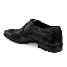 Load image into Gallery viewer, Men's Genuine Leather Single Monk Shoes with Wing-tip Brogue in Neolite Sole