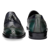 Load image into Gallery viewer, Men's Genuine Leather Fringe with Tassel Dual tone Slip-ons