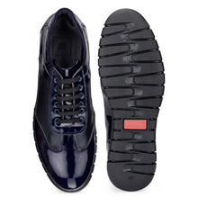Load image into Gallery viewer, Men's Casual Handcrafted Leather Lace-up Sneaker with Rubber sole