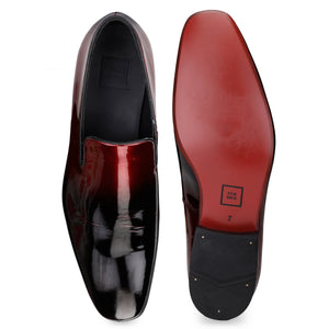 Men's Dual Tone Slip-on Patent Leather Shoes