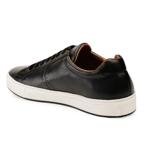Men's Black Leather Sneaker