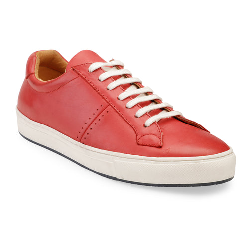 Men's Red Leather Sneaker