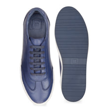 Load image into Gallery viewer, Men's Blue Leather Sneaker