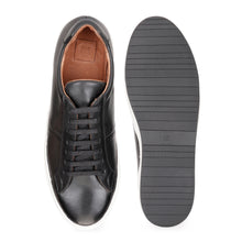 Load image into Gallery viewer, Men's Black Leather Sneaker