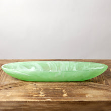 Load image into Gallery viewer, Swirl Resin Boat Bowl, various colors Medium 17.7""