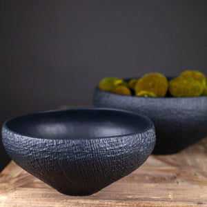 Mara Sand Organic Ceramic Bowl - Black
