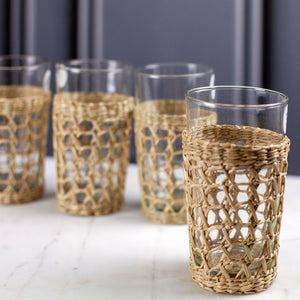 Seagrass High Ball Glass, set of 4