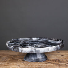 Load image into Gallery viewer, Black Footed Resin Cake Stand Lg